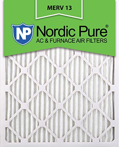 Nordic Pure 20x25x1M13-6 20x25x1 MERV 13 Pleated AC Furnace Air Filter, Box of 6, 1-Inch