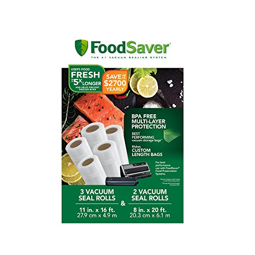 """FoodSaver 8"""" & 11"""" Rolls with unique multi layer construction"""
