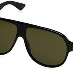 Gucci Urban Oversized Sunglasses, Lens-59 Bridge-11 Temple-145, Black / Green / Black