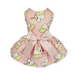 Fitwarm Fairy Unicorn Pet Clothes for Dog Dresses Cat