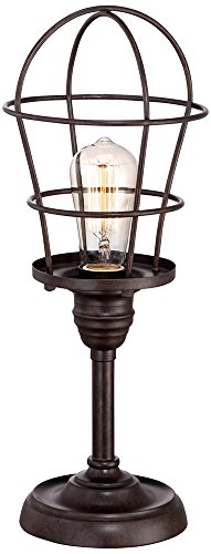 """Franklin Iron Works Industrial Wire Cage 17 1/4"""" Accent Lamp"""
