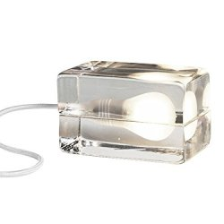 Block Lamp|Made of Hand Cast Glass Modern Ice desk light Glass table lamp
