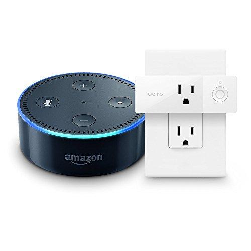 Echo Dot (2nd Generation) - Black + WeMo Mini Smart Plug