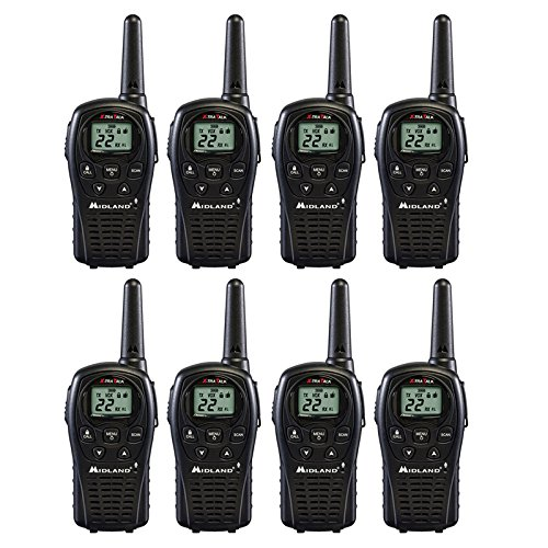 Midland 2 Way Radio 8 PACK Plus Rechargeable Batteries and Chargers