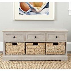 Safavieh American Homes Collection Damien Vintage Grey 3 Drawer Storage Unit