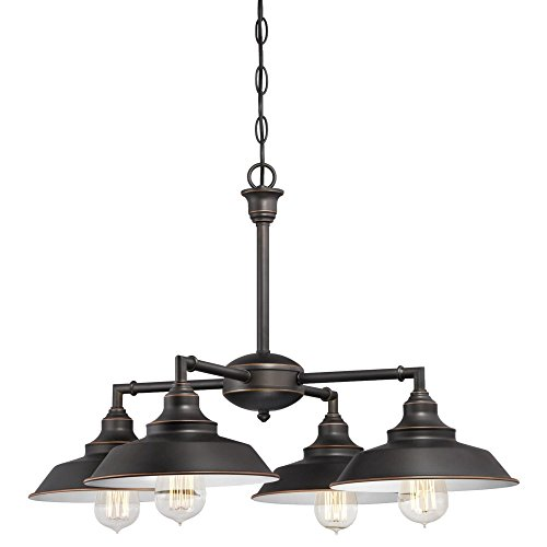 Westinghouse Iron Hill Four-Light Indoor Convertible Chandelier