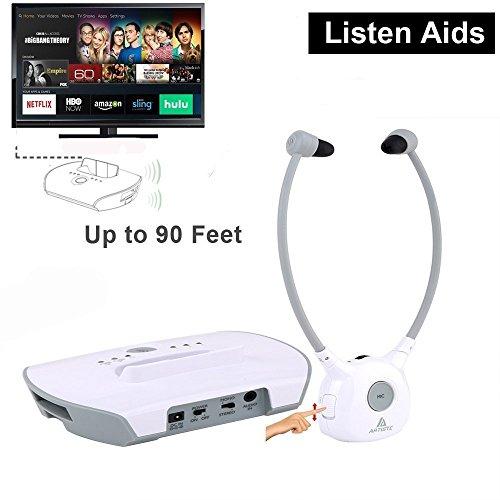 Wireless Hearing Aid Headset System, Artiste 2.4G TV Assistive Listening Headphones