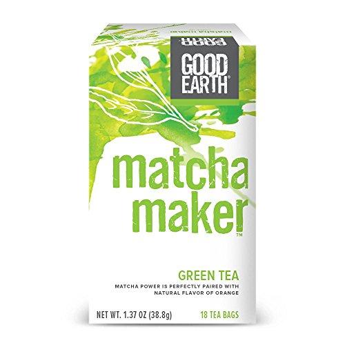 Good Earth Green Tea, Matcha Maker, 18 Count Tea Bags (Pack of 6)