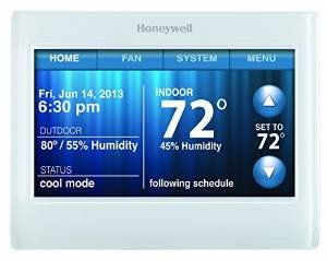Honeywell WiFi 9000 Color Touchscreen Thermostat, Works with Alexa
