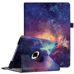 "Fintie iPad 9.7 inch 2018 2017/iPad Air Case - 360 Degree Rotating Stand Protective Cover with Auto Sleep Wake for Apple iPad 9.7"" (6th Gen, 5th Gen)/iPad Air 2013 Model, Galaxy"
