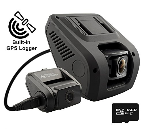 Rexing V1LG Dual Channel Car Dash Cam FHD 1080p 170° Wide Angle Dashboard Camera Recorder