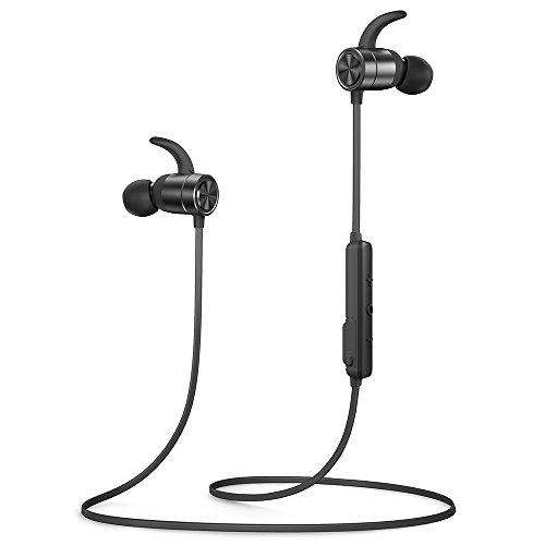 TaoTronics Bluetooth Headphones, Wireless Earphones, 9 Hours of Play Time