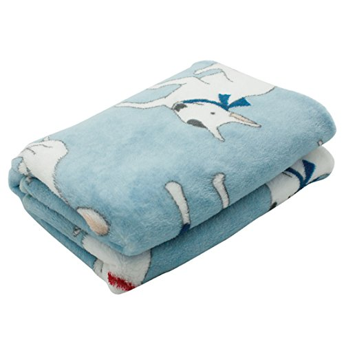 Scheppend Cozy Cuddly Pet Fleece Blanket Dogs Cats Bed Throws for Couch,Car Backseat,Crate,Kennel and Carrier(Bull Terrier)
