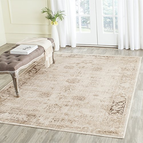 "Safavieh Vintage Premium Collection Transitional Oriental Stone Distressed Silky Viscose Area Rug (6'7"" x 9'2"")"
