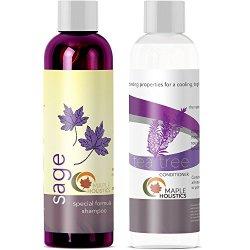 Sulfate Free Shampoo And Tea tree Oil Conditioner Set - Anti Dandruff