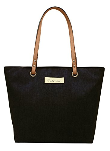 PortoVino City Tote Black - Wine Purse