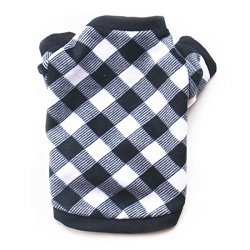 Idepet Warm Pet Dog Sweater with Black and White