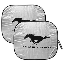 Ford Mustang Folding Dual Panel Windshield Sun Shade