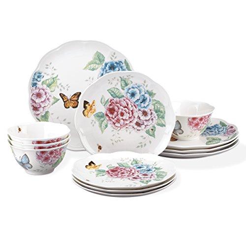 Lenox 12 Piece Butterfly Meadow Hydrangea Set, White