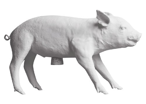 Areaware Bank in The Form of a Pig, Matte White