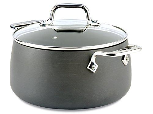 All-Clad HA1 Hard Anodized Nonstick Dishwasher Safe PFOA Free Soup Pot / Stock Pot Cookware, 4-Quart, Black
