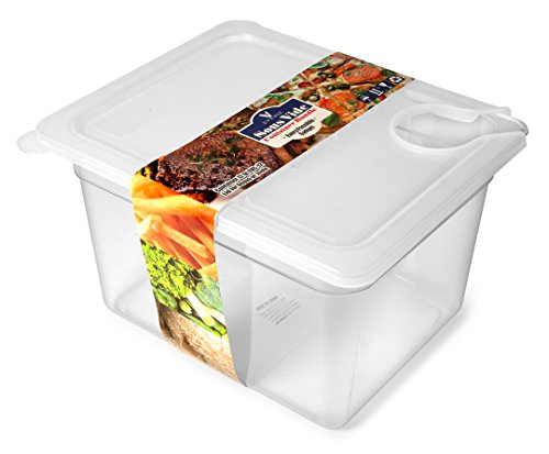EVERIE Sous Vide Container 12 Quart EVC-12 with Collapsible Hinge Lid for Anova Cookers (Corner Mount)