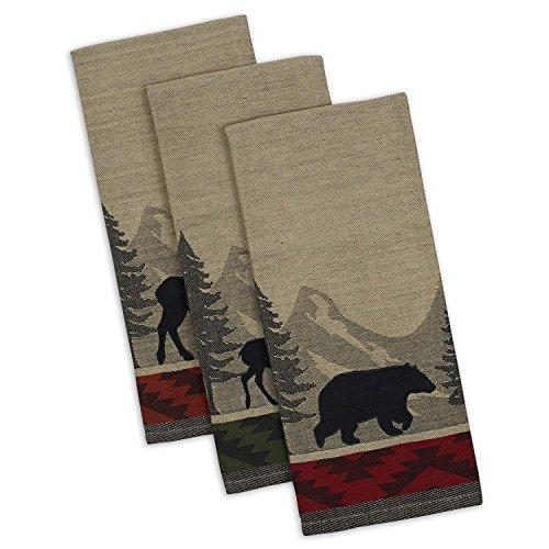 DII Cotton Jacquard Dish Towels, 20x28 Set of 3, Decorative Tea Towels
