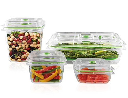 FoodSaver Vacuum Sealed Fresh Containers, 4-Piece Set