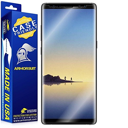 Galaxy Note 8 Screen Protector [Case Friendly] (New Version) Armorsuit MilitaryShield Lifetime Replacement HD Screen Protector For Note 8 - Clear