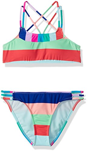 Bralette Top and Side Strap Hipster Bottom Swimsuit Set