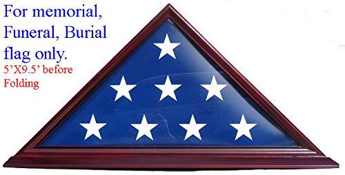 Flag Display Case - Cherry Finish, Veteran Memorial for 5' X 9.5' Flag FC06-CH