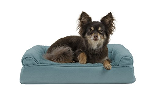 FurHaven Ultra Plush/Velvet Orthopedic Dog Couch Sofa Bed for Dogs and Cats, Plush Deep Pool, Small