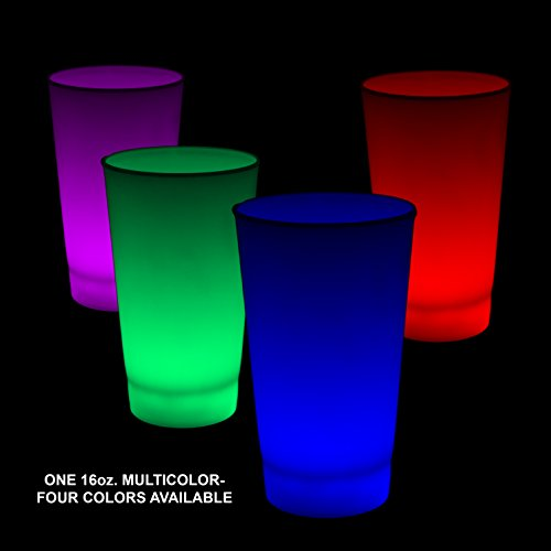 Fun Central Glow in the Dark LED Light Up Cup - 16oz Multicolor - 6pc