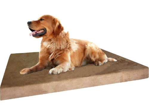 Dogbed4less Extra Large Gel Infused Cooling Memory Foam Dog Bed