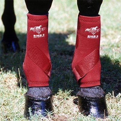 Professionals Choice Equine Smbii Leg Boot, Pair (Medium, Black)