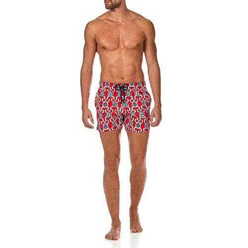Vilebrequin Primitive Turtles Superflex Superflex Swim Shorts - Men - Poppy Red - XS