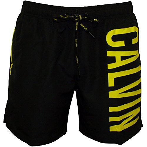 Calvin Klein Men's Medium Drawstring Swimshorts, Black, Medium