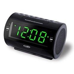 Jensen AM/FM Dual-Alarm Clock Radio