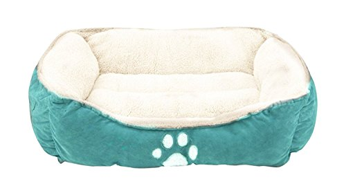"Sofantex Pet Line Beds Paw Print, Blue, 25"" L, Medium"