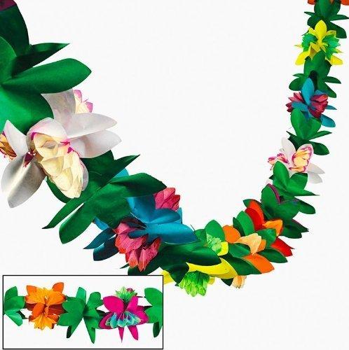 Tissue Flower Garland by Fun Express (1-Pack)