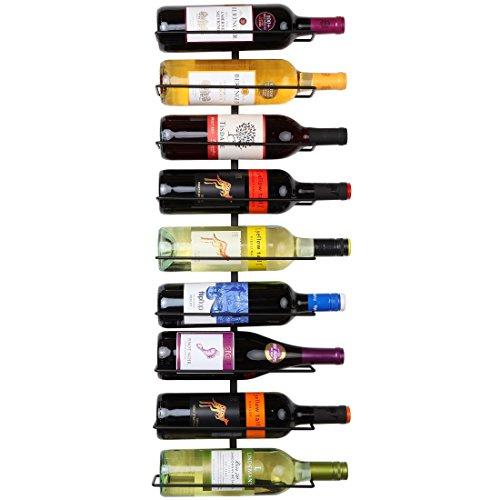Home-X 9 Bottle Wall Mounted Wine Rack