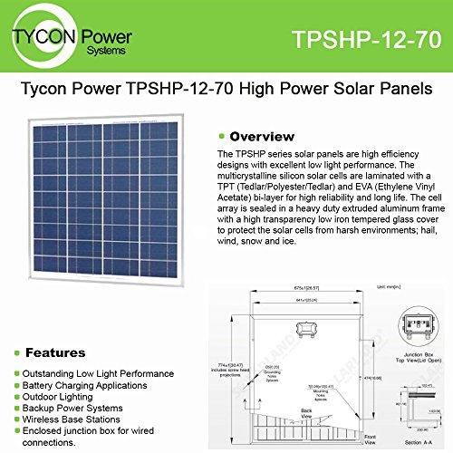 Tycon Power Systems 60 Watt 12 Volt Solar Panel 30x25