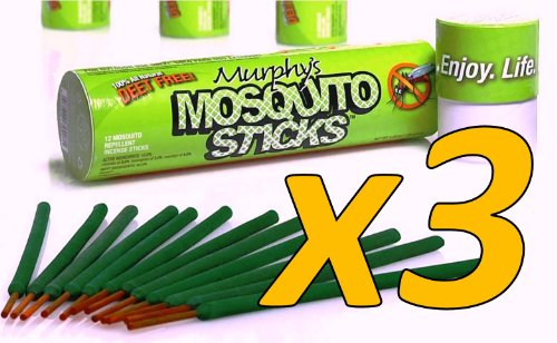 Murphy's Naturals Mosquito & Flying Insect Repellent Incense Sticks (3-Pack)