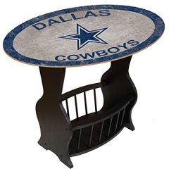 Fan Creations N0818-DAL Dallas Cowboys Distressed End Table