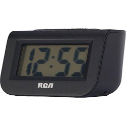 """Rca(r) Rcd10 Alarm Clock With 1"""" Lcd Display 3.90in. x 3.40in. x 2.75in."""