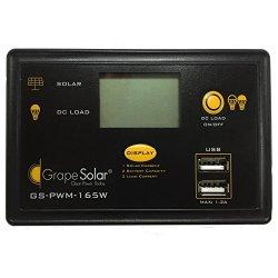 Grape Solar GS-PWM-165W PWM Solar Charge Controller, 165-watt