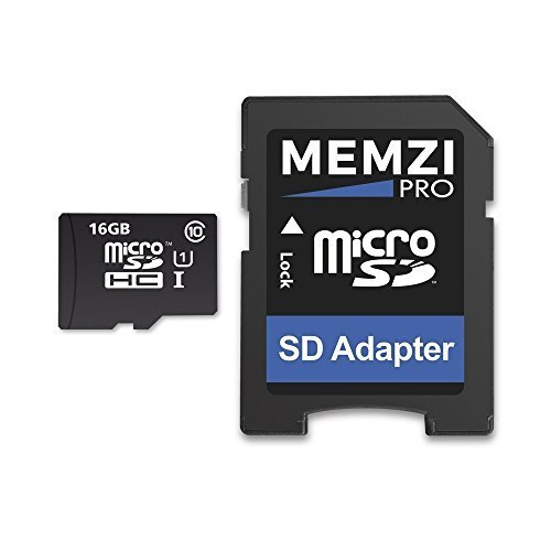 MEMZI PRO 16GB Class 10 90MB/s Micro SDHC Memory Card with SD Adapter for Nintendo Hand Held Consoles