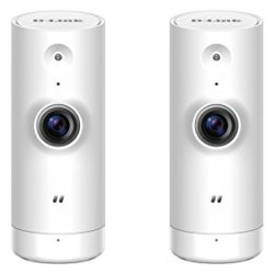 D-Link HD Mini Indoor WiFi Security Camera 2-Pack, Cloud Recording, Motion Detection & Night Vision, DCS-8000LH/2PK, Works with Alexa and Google Assistant
