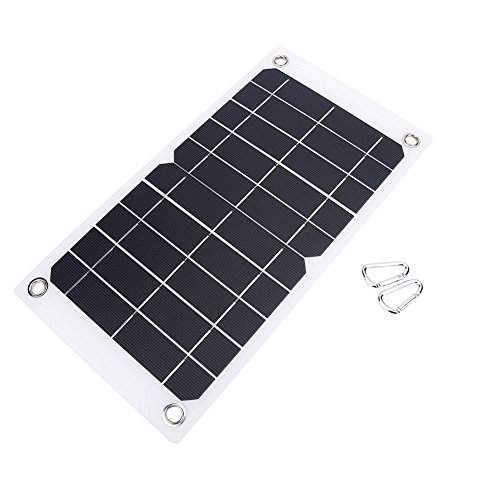 NUZAMAS Poartable 7.5W Solar Panel 5V USB Phone IPHONE Charger Battery Free 2 Alloy Clips