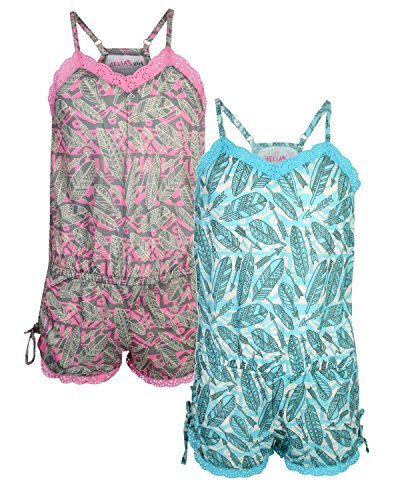 dELiA*s Girls Pajama Romper (2 Pack) Feathers